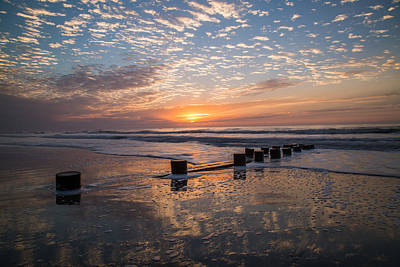 Photograph - Morning Reflection Folly Beach Sc by Donnie Whitaker