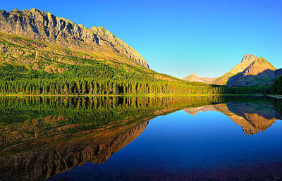 Glacier National Park Photograph - Morning Reflections At Fishercap Lake by Greg Norrell