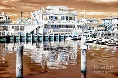 Photograph - Morning Reflections At Long Beach Island Infrared by John Rizzuto