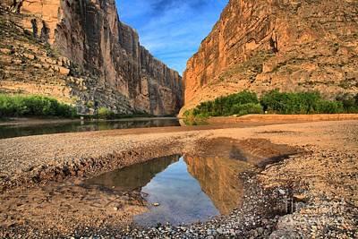 Photograph - Morning Reflections At Santa Elena Canyon by Adam Jewell