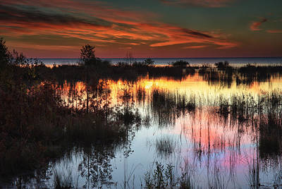 Photograph - Morning Reflections by CA  Johnson