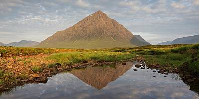 Photograph - Morning Reflections Of Buachaille Etive Mor by Stephen Taylor