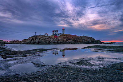 Photograph - Morning Reflections Of Cape Neddick by Rick Berk