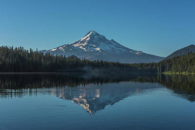 Photograph - Morning Reflections Of Mount Hood by Brenda Jacobs