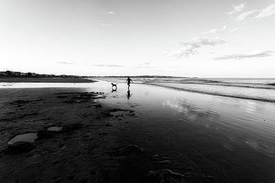 Photograph - Morning Reflections On Long Sands Beach by John Hoey