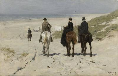 Painting - Morning Ride Along The Beach Anton Mauve 1876 by R Muirhead Art
