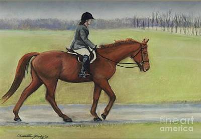 Equine Pastels Painting - Morning Ride by Charlotte Yealey