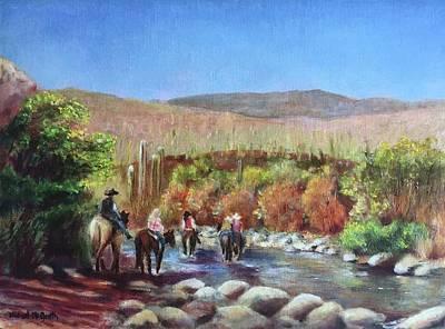 Michael Mcgrath Painting - Morning Ride by Michael McGrath