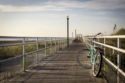 Wildwood Photograph - Morning Ride On A Beach by Alexander Mendoza