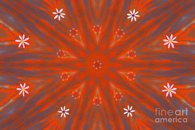 Digital Art - Morning Ripples Star by Donna Munro