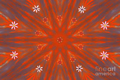 Digital Art - Morning Ripples Star by Donna L Munro