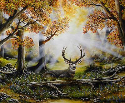David Paul Painting - Morning Rise by David Paul