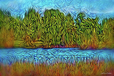 Digital Art - Morning River Dream by Joel Bruce Wallach
