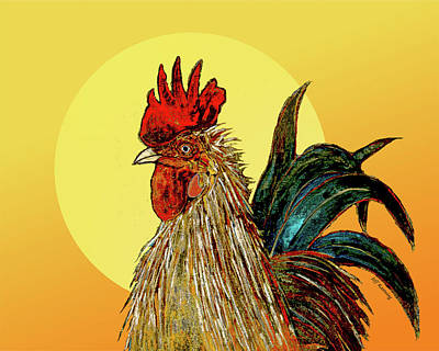 Painting - Morning Rooster by Jeff Kastning