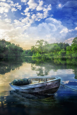 Photograph - Morning Rowboat by Debra and Dave Vanderlaan