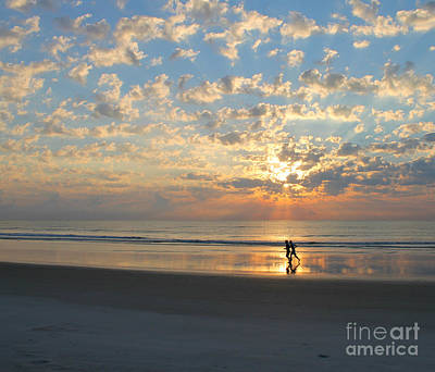 Photograph - Morning Run by LeeAnn Kendall