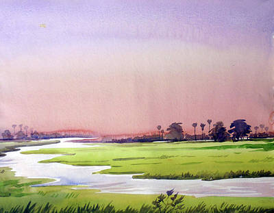 Painting - Morning Rural Landscape by Samiran Sarkar