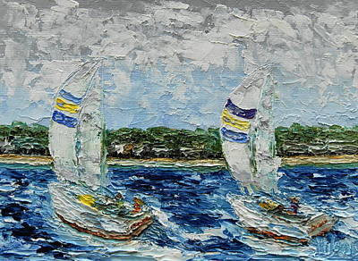 Painting - Sailing With Friends by Chrys Wilson