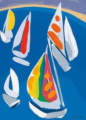 Morning Sail Print by Sarah Gillard