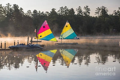 Photograph - Morning Sailboats by Sherman Perry