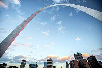 Photograph - Morning Saint Louis Skyline Under The Gateway Arch by Gregory Ballos
