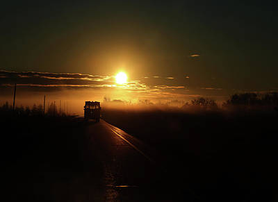 Photograph - Morning School Bus  by The Artist Project