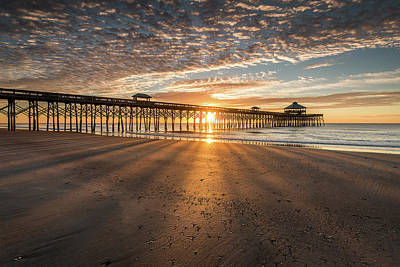 Photograph - Morning Shadow - Folly Beach Pier  by Donnie Whitaker
