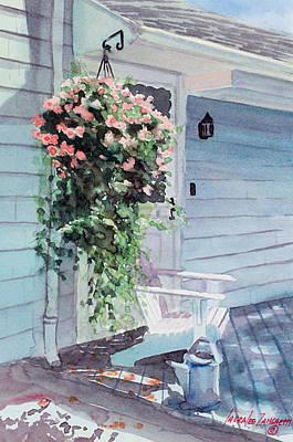 Porch Painting - Morning Shadows by Laura Lee Zanghetti