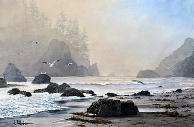 Painting - Morning Shore by Bill Hudson