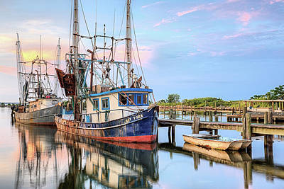 Morning Shrimpers Art Print