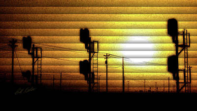 Photograph - Morning Signals - The Slat Collection by Bill Kesler
