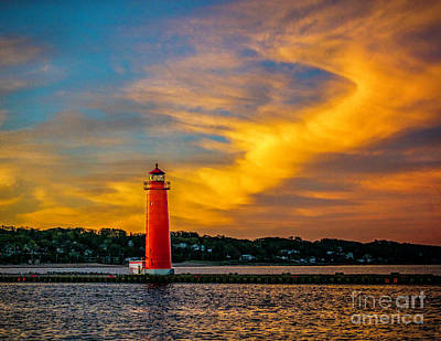 Photograph - Morning Sky At Grand Haven Light by Nick Zelinsky