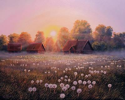 Wall Art - Painting - Morning Sky by Oleg Riabchuk