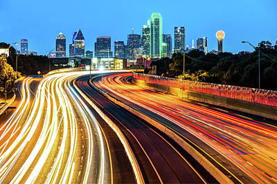 Photograph - Morning Skyline - Dallas Texas by Gregory Ballos