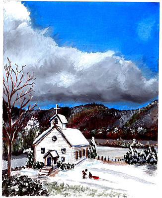 Painting - Morning Snow Ministry by Craig A Stevens