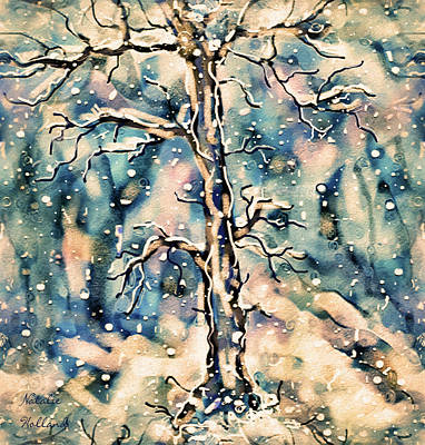 Mixed Media - Morning Snow by Natalie Holland