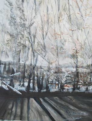 Painting - Morning Snow by Paula Pagliughi