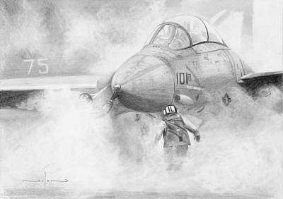 Drawing - Morning Sortie by Nolan Clark