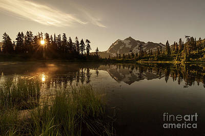 Photograph - Morning Starburst At Picture Lake by Paul Conrad