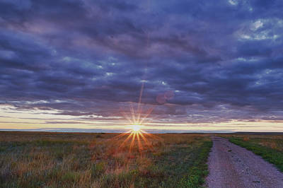 Art Print featuring the photograph Morning Starburst by Monte Stevens
