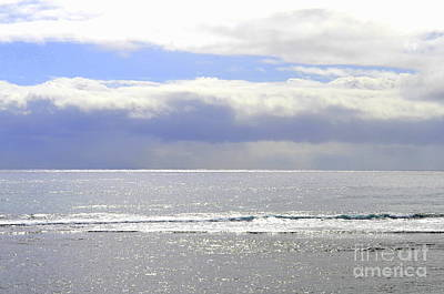 Photograph - Morning Storm Over A Silver Sea by Mary Deal