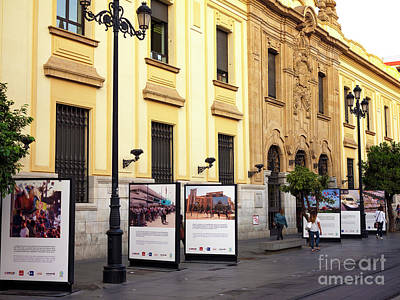 Photograph - Morning Street In Seville by John Rizzuto