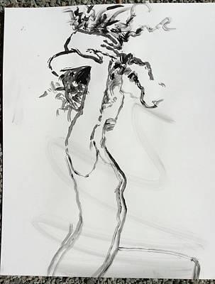Drawing - Morning Stretch by Elizabeth Parashis