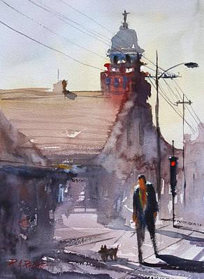 Streetscape Painting - Morning Stroll In Steven's Point by Ryan Radke