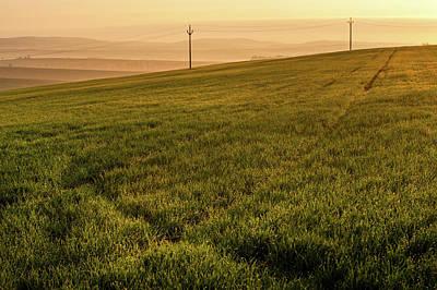 Art Print featuring the photograph Morning Sun. Moravian Tuscany by Jenny Rainbow