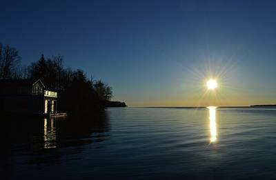 Photograph - Morning Sun On A Boathouse At Shanty Bay  by Lyle Crump