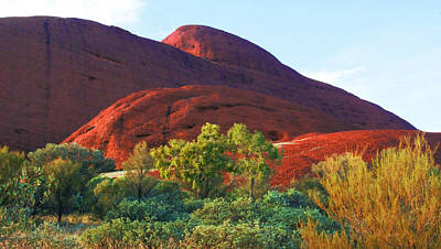 Photograph - Morning Sun On Kata Tjuta by Lexa Harpell