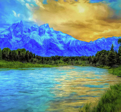 Painting - Morning Sun On Schwabachers by Dan Sproul