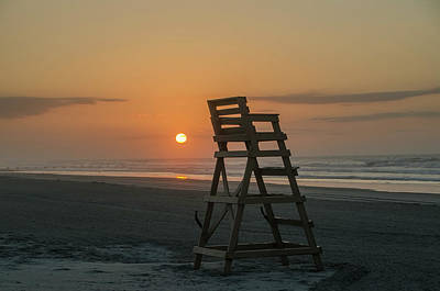 Wildwood Photograph - Morning Sun - Wildwood Crest by Bill Cannon