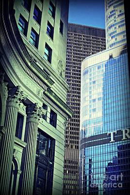 Frank J Casella Royalty-Free and Rights-Managed Images - Morning Sunlight Architecture City of Chicago by Frank J Casella